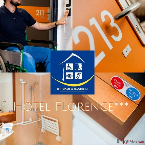 hôtel florence lourdes label tourisme et handicap